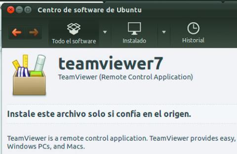 Ventana Instalacion TeamViewer Linux