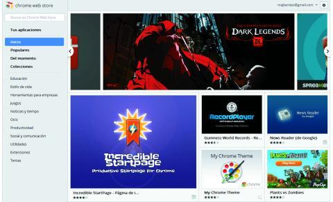 imagen de la página principal de la tienda de Google