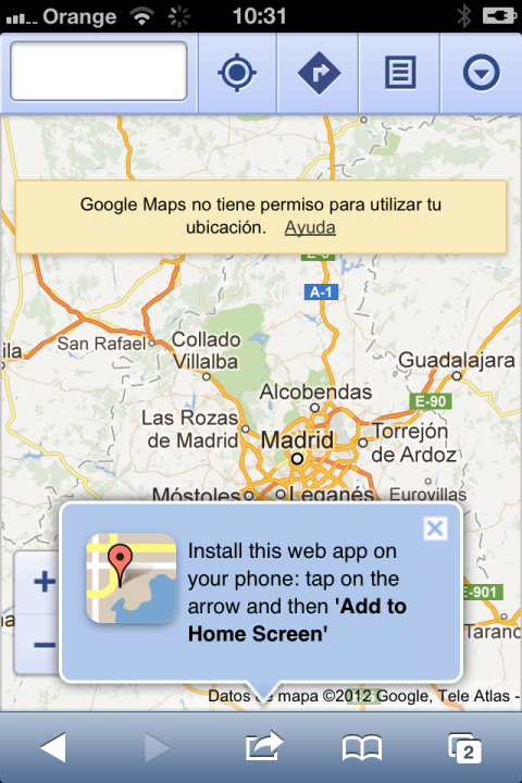Instala Google Maps en IOS6