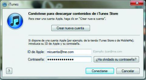Ventana de ejecución de iTunes