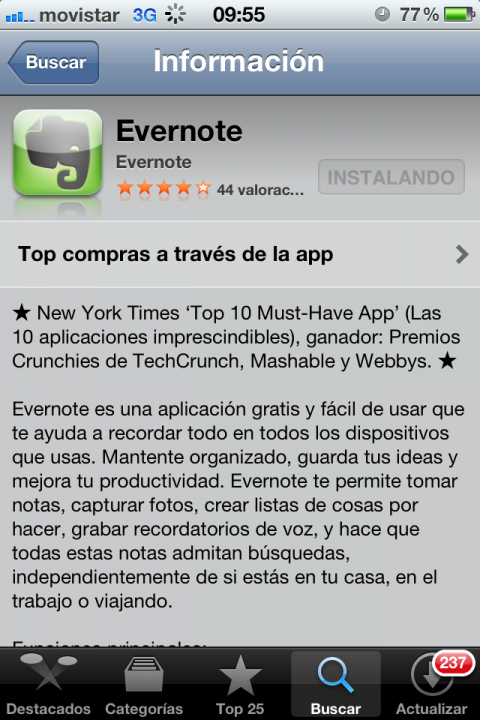 Apple Store Evernote