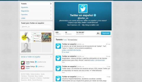 Interfaz Twitter Español