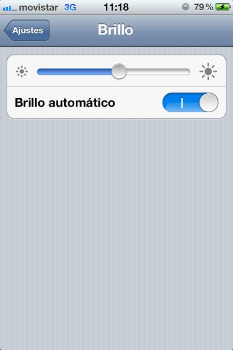 Ajuste de brillo en iOS