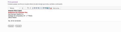 imagen de firma electrónica en hotmail