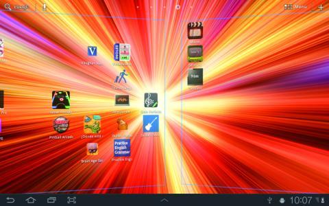 De una a otra pantalla del tablet
