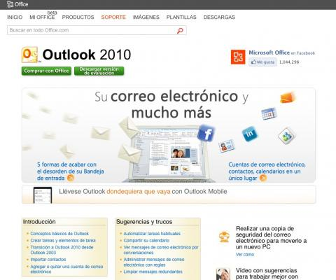 Interfaz web Outlook