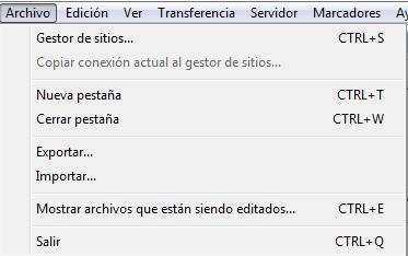 Conéctate a un servidor ftp con Filezilla