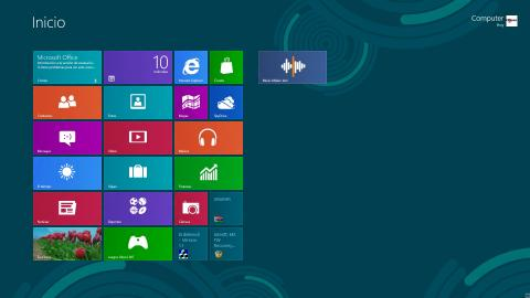 Interfaz de inicio de Windows 8