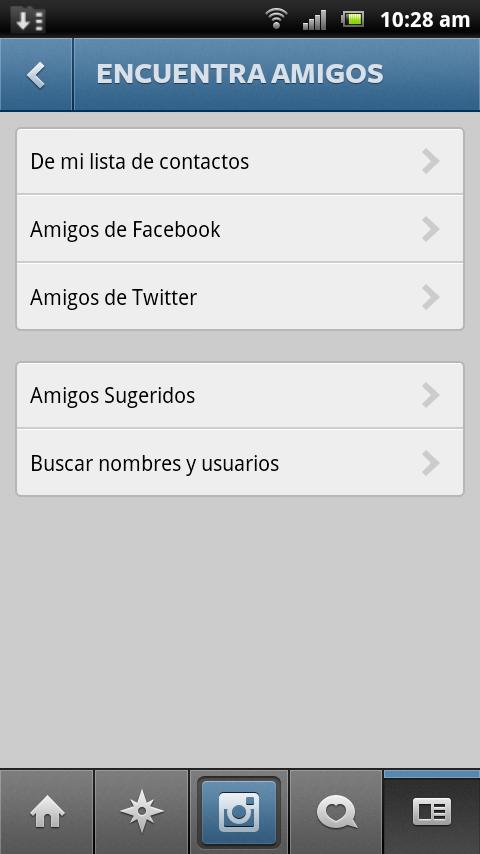 imagen de búsqueda de amigos en las redes sociales a través de instagram