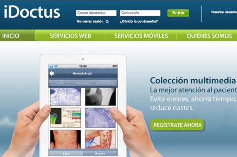 Interfaz de inicio de iDoctus