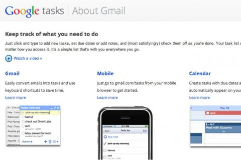 Interfaz presentación Google Tasks