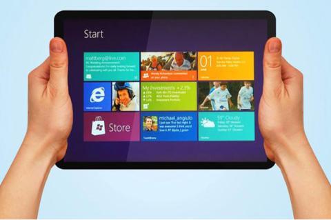 Gestos en Windows 8 tablet