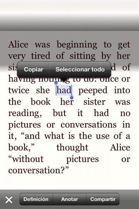 interfaz de texto en stanza