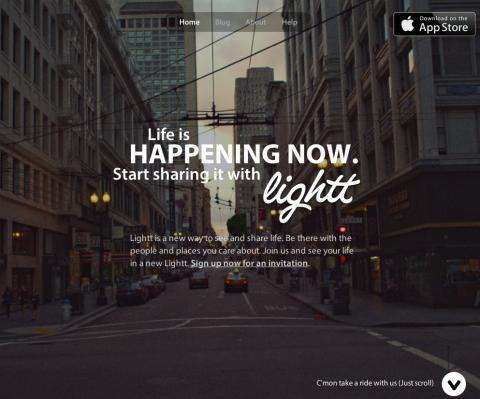 interfaz web Lightt