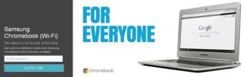 Samsung Chromebook agotado