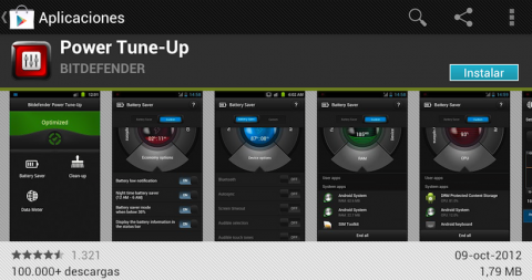 Power Tune-Up es gratuita y está en la tienda Google Play