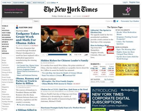 app new york times para Windows 8