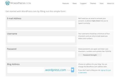 imagen de la página de inicio en wordpress