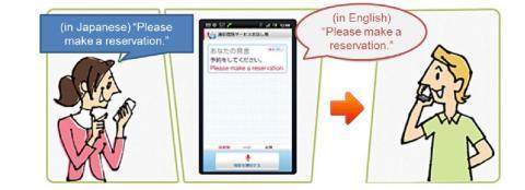 App de traducción en tiempo real de NTT Docomo.