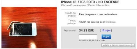 iPhone en mal estado en venta en Ebay