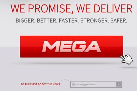 Preview de la web de Mega, el nuevo Megaupload