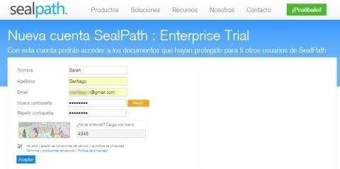 Registro en Sealpath