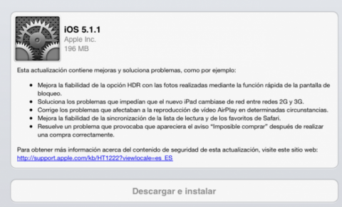 Actualización de software para iOS