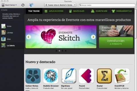 Novedades de Evernote 5 para Mac OS X