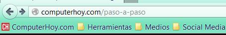 Barra de marcadores en Firefox