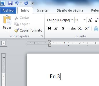 El cursor en Word