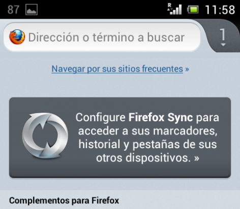 Set up Firefox Sync