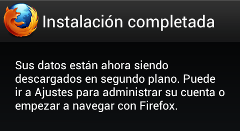 Confirmación Android