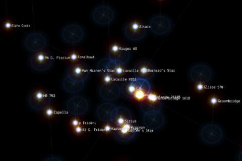 Google Chrome Experiment 100.000 estrellas