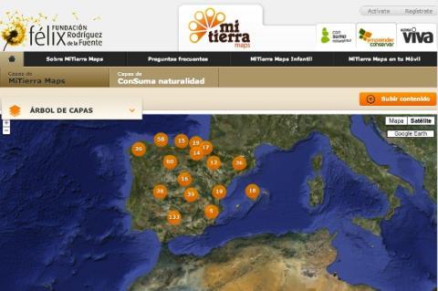 MiTIerra Maps, aplicación online con información sobre el mundo rural