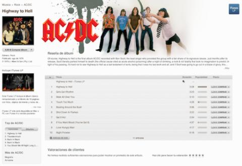 Las canciones de AC/DC se puede adquirir de forma independiente