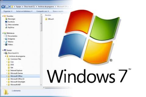 Visualiza el árbol de carpetas en Windows 7