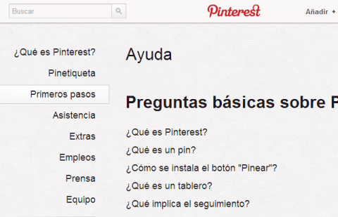 Primeros pasos con Pinterest