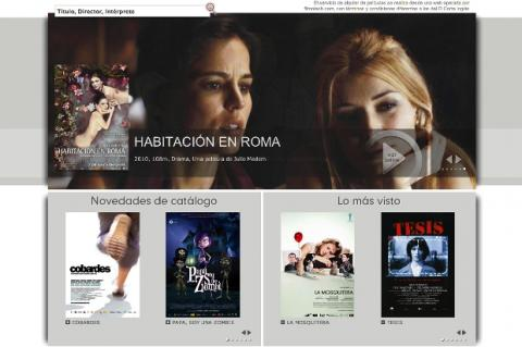 Interfaz de Filmotech