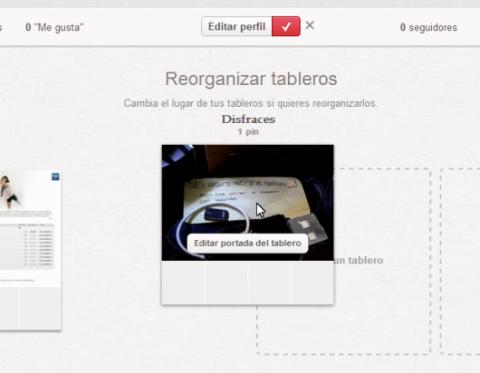 Reorganizar tableros Pinterest