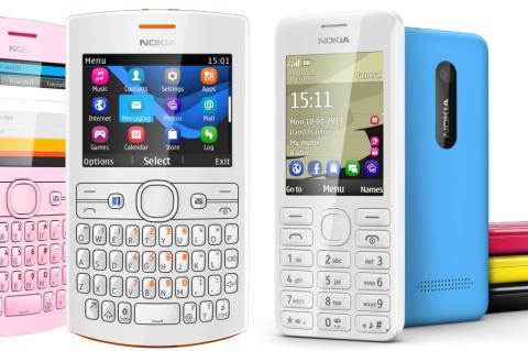 Nokia 206 y Nokia Asha 205
