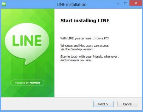 instalacion line pc