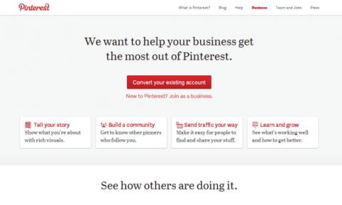 Portada de Pinterest para Empresas