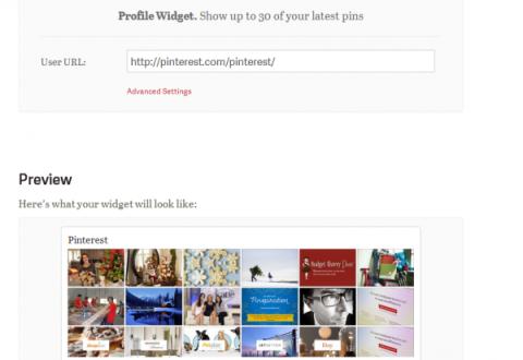 Insertar un widget de Pinterest en tu blog