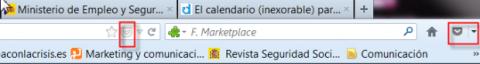 Dos Iconos de Pocket resaltados en recuadro rojo