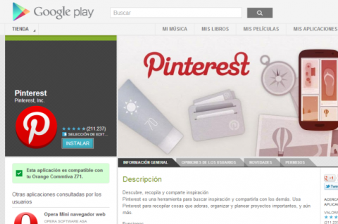 App Pinterest Android