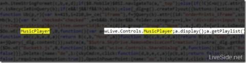 Parte del código de Skydrive con referencia a la función de streaming de música