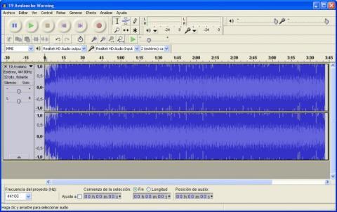 Divide un archivo de audio con Audacity 01