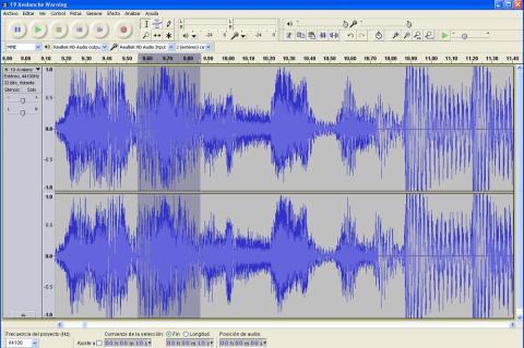 Divide un archivo de audio con Audacity