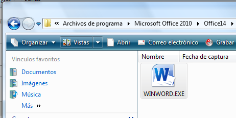 Ejecutable de Word