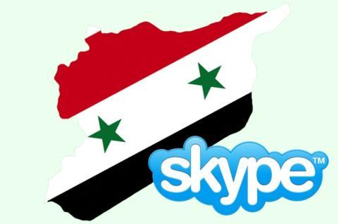 Los rebeldes sirios y Skype.